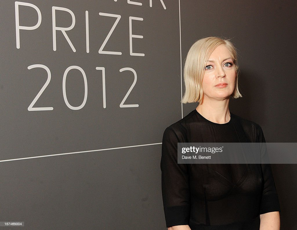 Turner Prize 2012 winner Elizabeth Price poses at the Turner Prize 2012 winner announcement at the Tate Britain on December 3, 2012 in London, England.