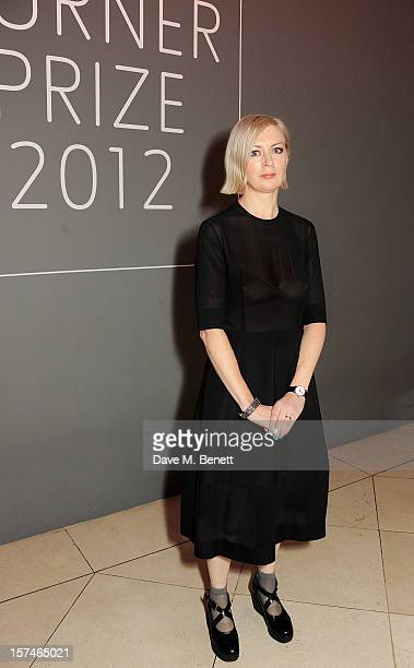 Turner Prize 2012 winner Elizabeth Price poses at the Turner Prize 2012 winner announcement at the Tate Britain on December 3 2012 in London England