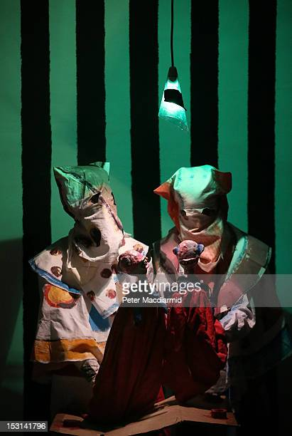 Turner Prize nominee Spartacus Chetwynd performs 'Odd Man Out 2011' at Tate Britain on October 1 2012 in London England The GBP£25000 Turner Prize is...