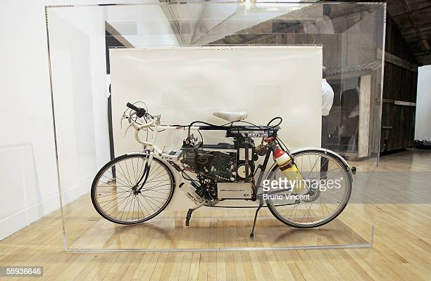 Turner Prize shortlist artist Simon Starling's Tabernas Desert Run an improvised hydrogen fuelled bicycle is seen at the Tate Britain gallery on...