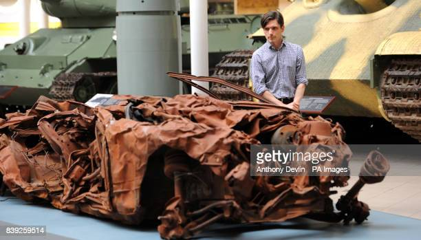 Turner Prize winning artist Jeremy Deller next to his work titled Baghdad 5 March 2007 at the Imperial War Museum London The museums new acquisition...