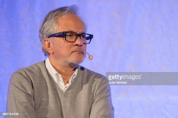 Turner Prize winning sculptor Sir Anish Kapoor speaks at 'Nobel Week Dialogue the Future of Truth' conference at at Svenska Massan on December 9 in...