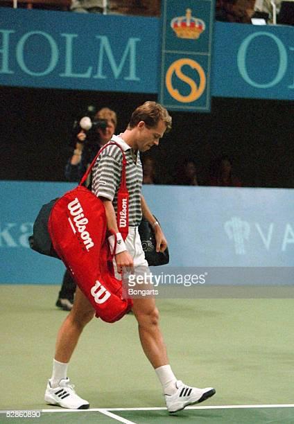 TENNIS ATP Turnier STOCKHOLM 51196 Stefan EDBERG macht sein letztes Match