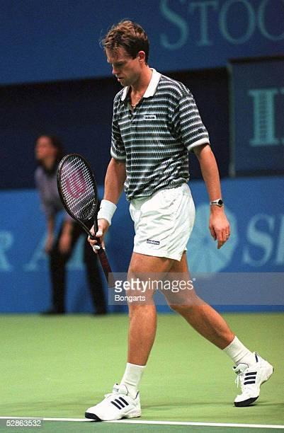 Turnier STOCKHOLM, 5.11.96, Stefan EDBERG macht sein letztes Match