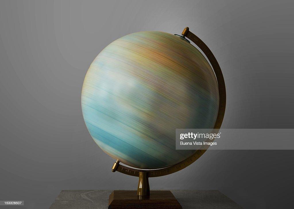 Turning globe. : Stock Photo