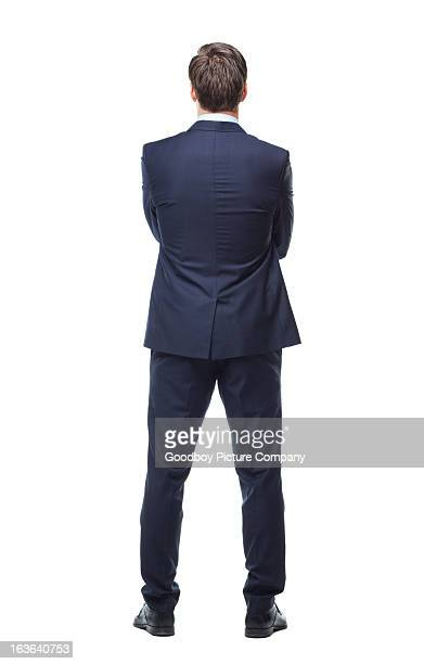 turning his back on business - suit stock pictures, royalty-free photos & images