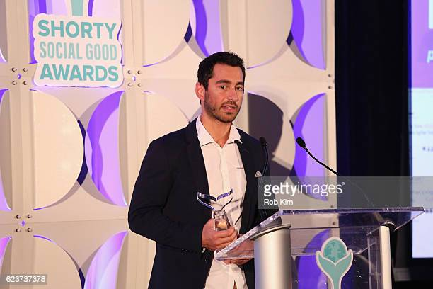 Turning Tables On Cancer receives Best Live Streaming Video award during the 1st Annual Shorty Social Good Awards at Apella on November 16 2016 in...