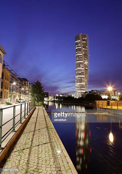 turning torso in malmo - malmo stock pictures, royalty-free photos & images