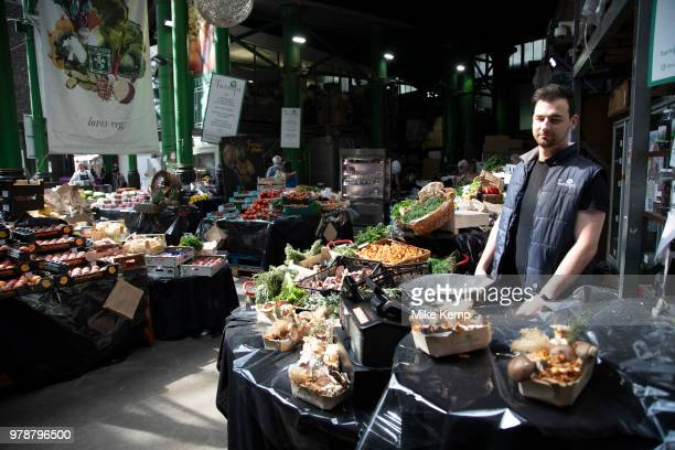 Turnips fruit and veg seller at Borough Market in London England United Kingdom Borough Market is a retail food market and farmers market in...