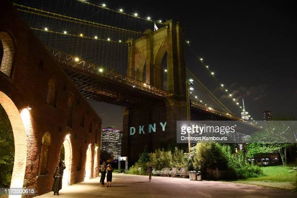 DKNY turns 30 with special live performances by Halsey and The Martinez Brothers at St Ann's Warehouse on September 09 2019 in New York City
