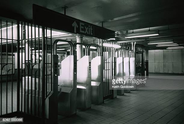 Turnstiles at Subway Exit