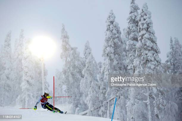 Turo Torvinen of Finland in action during the Audi FIS Alpine Ski World Cup Men's Slalom on November 24, 2019 in Levi Finland.