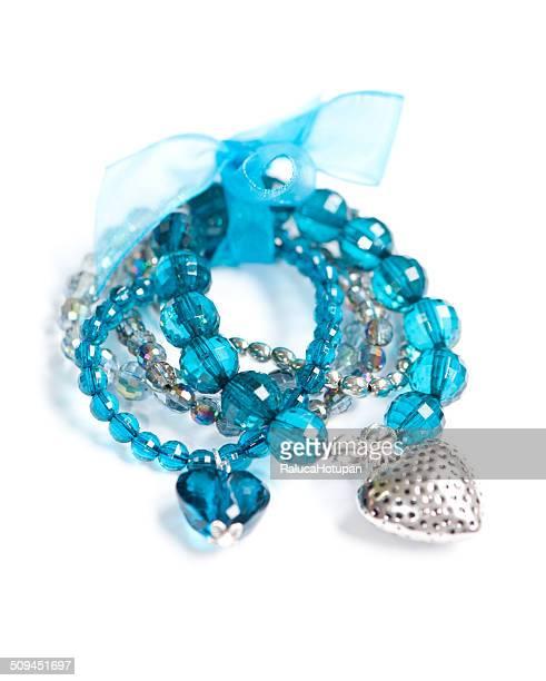 diy turqoise bracelet set - charm bracelet stock pictures, royalty-free photos & images