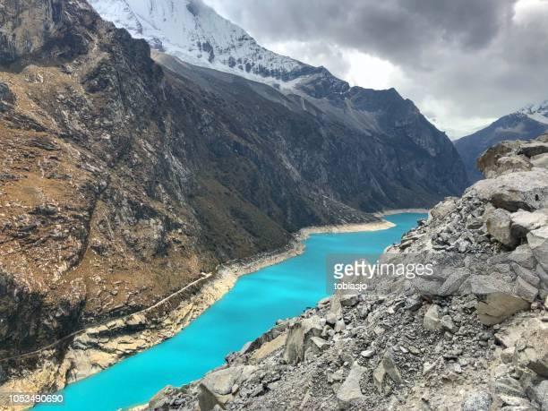 lago glaciar turquesa - norte - fotografias e filmes do acervo