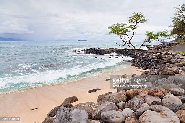 turquoise ocean waters, maui, hawaii - amit basu stock pictures, royalty-free photos & images