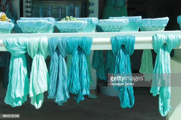 turquoise scarves - do rag stock pictures, royalty-free photos & images