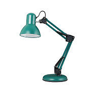 Turquoise table lamp in a classic style
