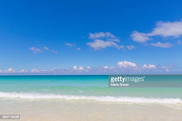 Turquoise water on the beach, island of Cayo Santa Maria, Greater Antilles, Caribbean, Cuba