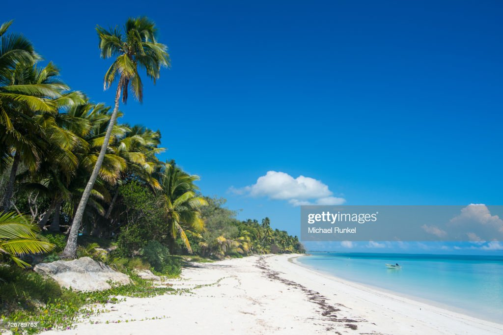 Turquoise waters and white sand beach, Ouvea, Loyalty Islands, New Caledonia, Pacific : Stock Photo