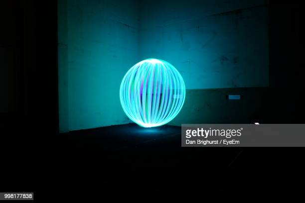 Turquoise Wire Wool Against Wall