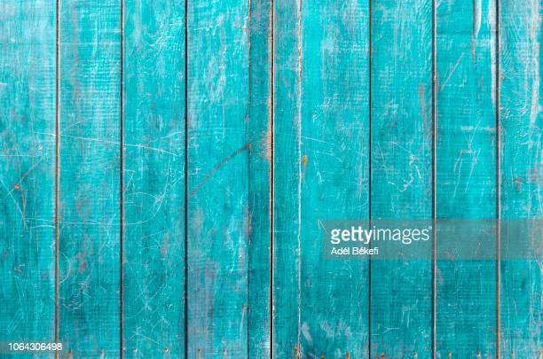 turquoise wood background - woodland stock pictures, royalty-free photos & images