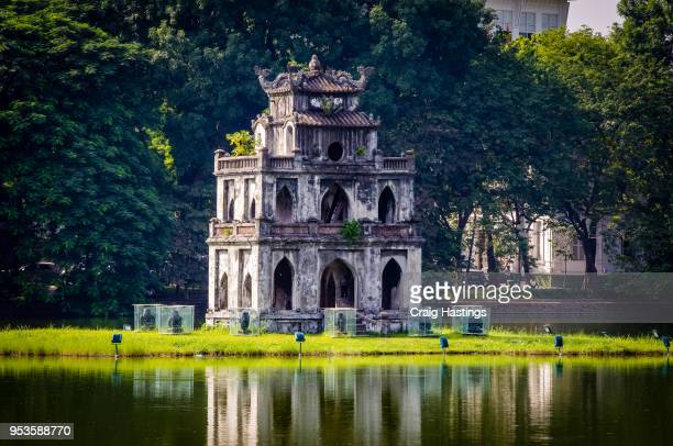 turtle lake temple hanoi vietnam - hanoi stock pictures, royalty-free photos & images