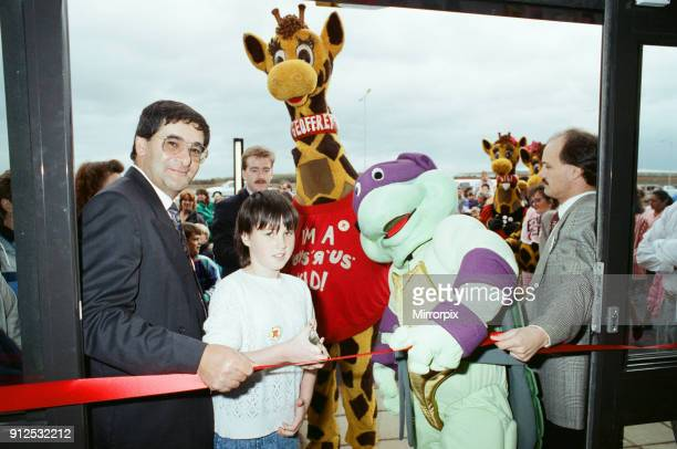 Turtle Mania hit Teesside today at the opening of the new Toys R Us at Teesside Shopping Park Sandown Way Stockton on Tees 6th October 1990 Pictured...