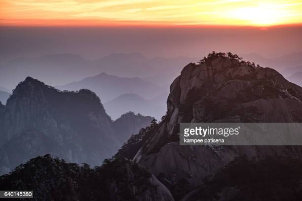 turtle peak view point, Huangshan (Yellow Mountains), Eastern China.