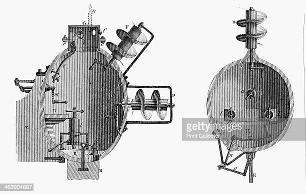 'Turtle' submarine designed by David Bushnell 1787 Bushnell built the Turtle the first American submarine in 1776 The Turtle was powered by a...