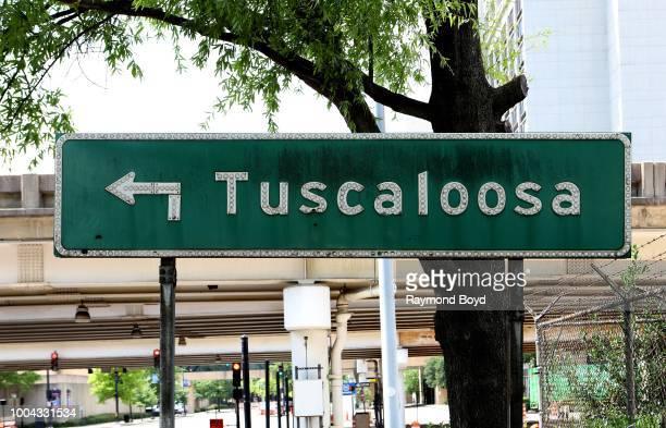 Tuscaloosa signage in Birmingham, Alabama on July 4, 2018.