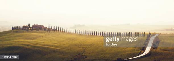 Toskana Landschaft mit Bauernhaus