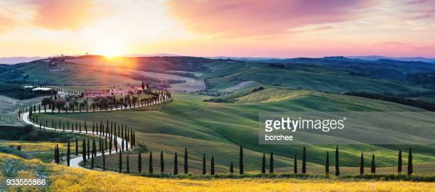 Tuscany Landscape With Winding Road