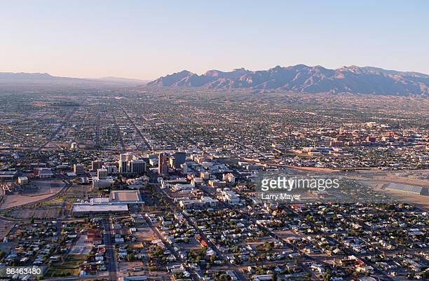 tuscon, arizona skyline, usa - tucson stock pictures, royalty-free photos & images