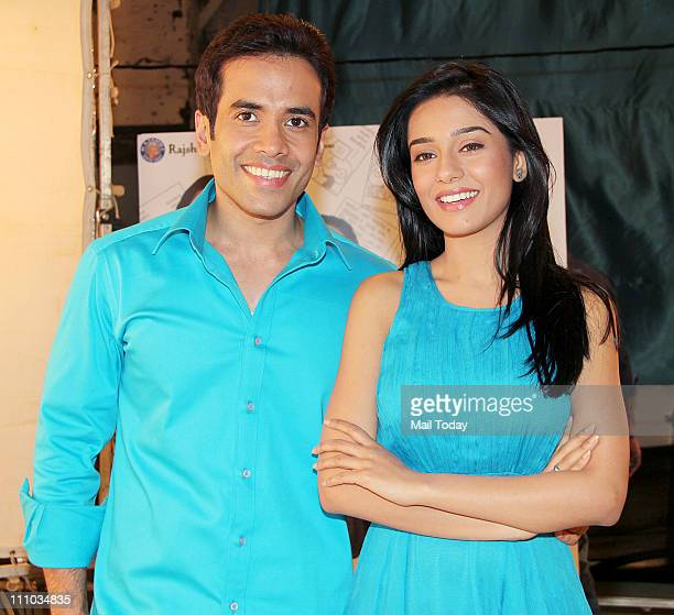 Tushar Kapoor and Amrita Rao at 'Love U Mr Kalakaar' promo shoot