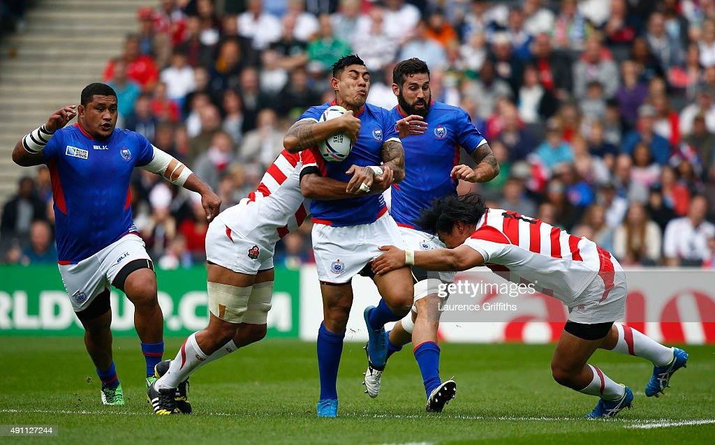 Samoa v Japan - Group B: Rugby World Cup 2015 : ニュース写真