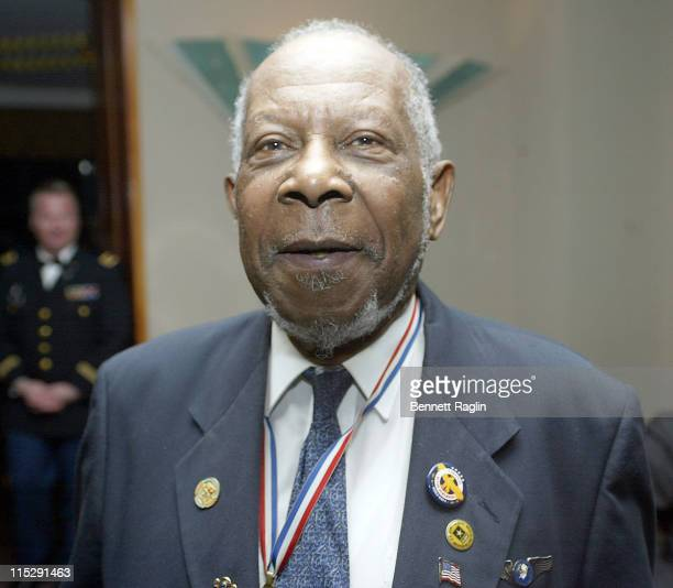 Tuskegee Airman Captain Thomas J Tindall during USO of Metropolitan New York's Special Dinner for the Tuskegee Airmen March 21 2006 at Pegasus Room...
