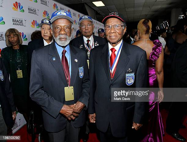 Tuskegee Airmen arrive at the 43rd NAACP Image Awards held at The Shrine Auditorium on February 17 2012 in Los Angeles California