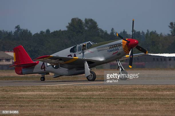 tuskegee airmen's airplane - tuskegee airmen stock pictures, royalty-free photos & images