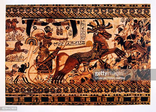 Tutankhamen in his Chariot Fight Against the Syrians Egyptian Museum Cairo Egypt Painting