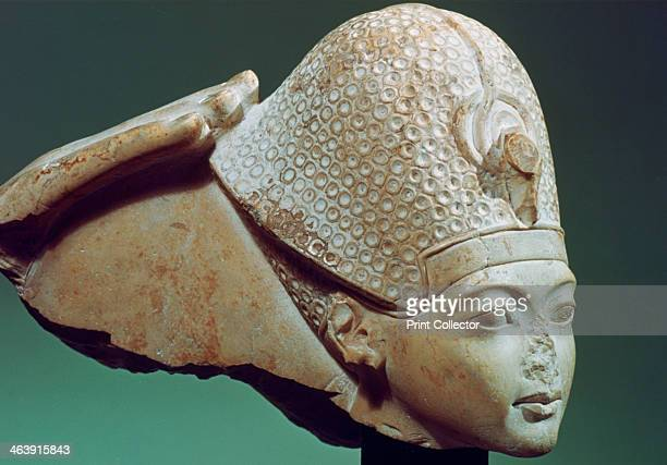 Tutankhamun wearing the Blue Crown 14th century BC Tutankhamun was a pharaoh of the Ancient Egyptian 18th Dynasty His tomb in the Valley of the Kings...