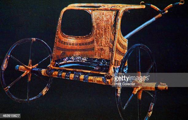 Tutankhamun's burial chariot 14th century BC From the Treasure of Tutankhamun discovered in the pharaoh's tomb and today kept at the Cairo Museum...
