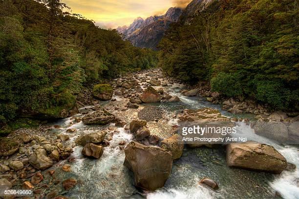 Tutoko Valley, Fiordland National Park, South Island, New Zealand