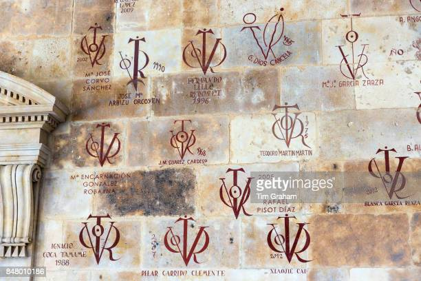 Tutors wall at University of Salamanca Faculty of Philology Languages in Plaza de Anaya Spain