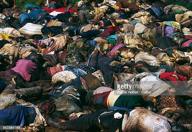 Tutsi peasants were massacred at Nyanza Hill by the army during the civil war in Rwanda. | Location: Nyanza Hill, Rwanda.