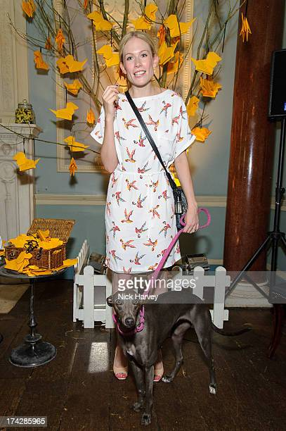 Tuuli Shipster and Beans attend the Dogs Trust Honours 2013 at Home House on July 23 2013 in London England