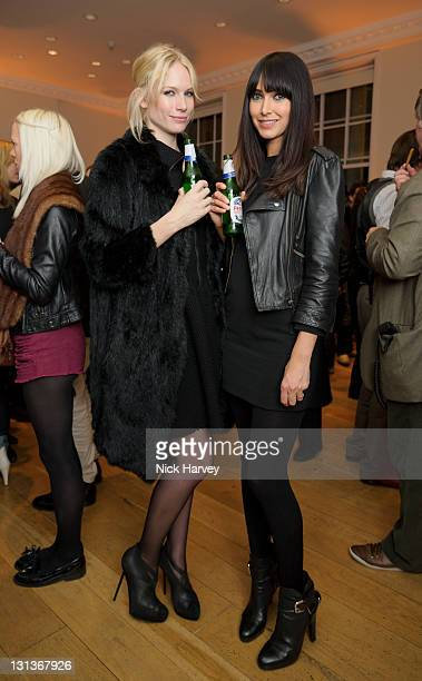 Tuuli Shipster and Chantal Brown attend exhibition and book launch celebrating the monthly style title's 20th anniversary at Somerset House on...