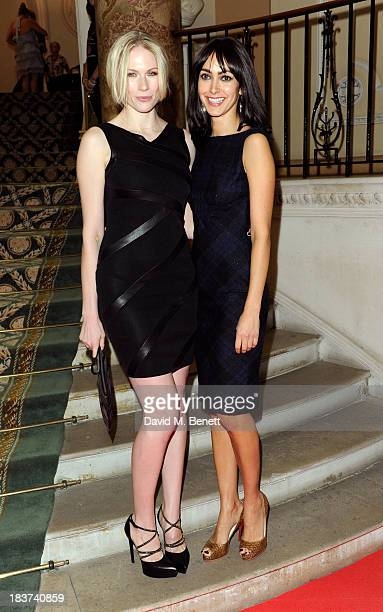 Tuuli Shipster and Chantelle Brown arrive at the Scottish Fashion Invasion of London at the 8th Annual Scottish Fashion Awards 2013 at Dover House on...