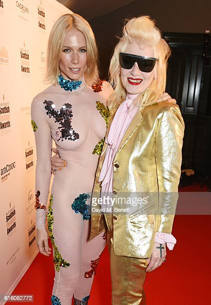 Tuuli Shipster and Pam Hogg attend the Scottish Fashion Awards in association with Maserati at Rosewood Hotel on October 21 2016 in London England
