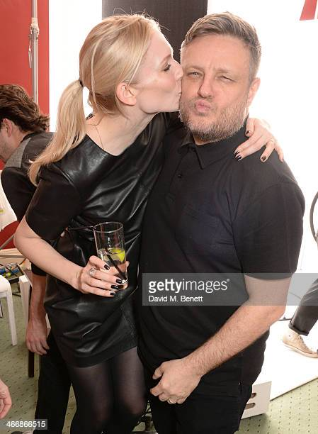 Tuuli Shipster and Rankin attend the InStyle Best of British Talent party in celebration of BAFTA in association with Lancome and Sky Living at...