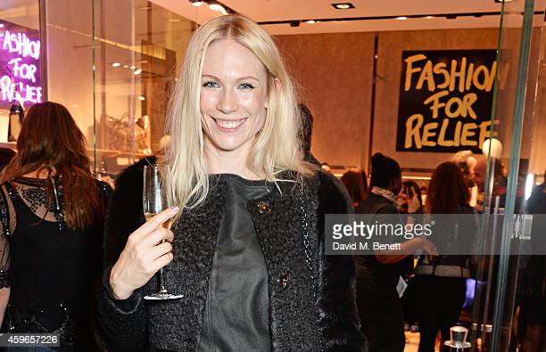 Tuuli Shipster attends as Naomi Campbell launches the Fashion For Relief PopUp at The Village Westfield London on November 27 2014 in London England...